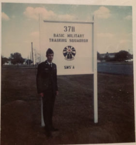 Ray Hanania after graduation from Basic Training at Lackland Air Force Base 1973. Photo courtesy of Ray Hanania