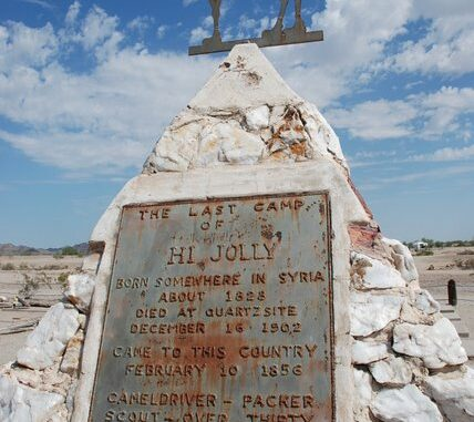 """Philip """"Hi Jolly"""" Tedro (Tadros) Memorial Monument in Arizona Photo courtesy of Wikipedia"""